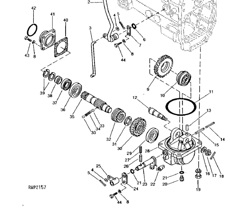 Buy Your Compact Tractor Parts Online Weavers John Deere 950 Wiring Harness 4wd Drop Box Bearing