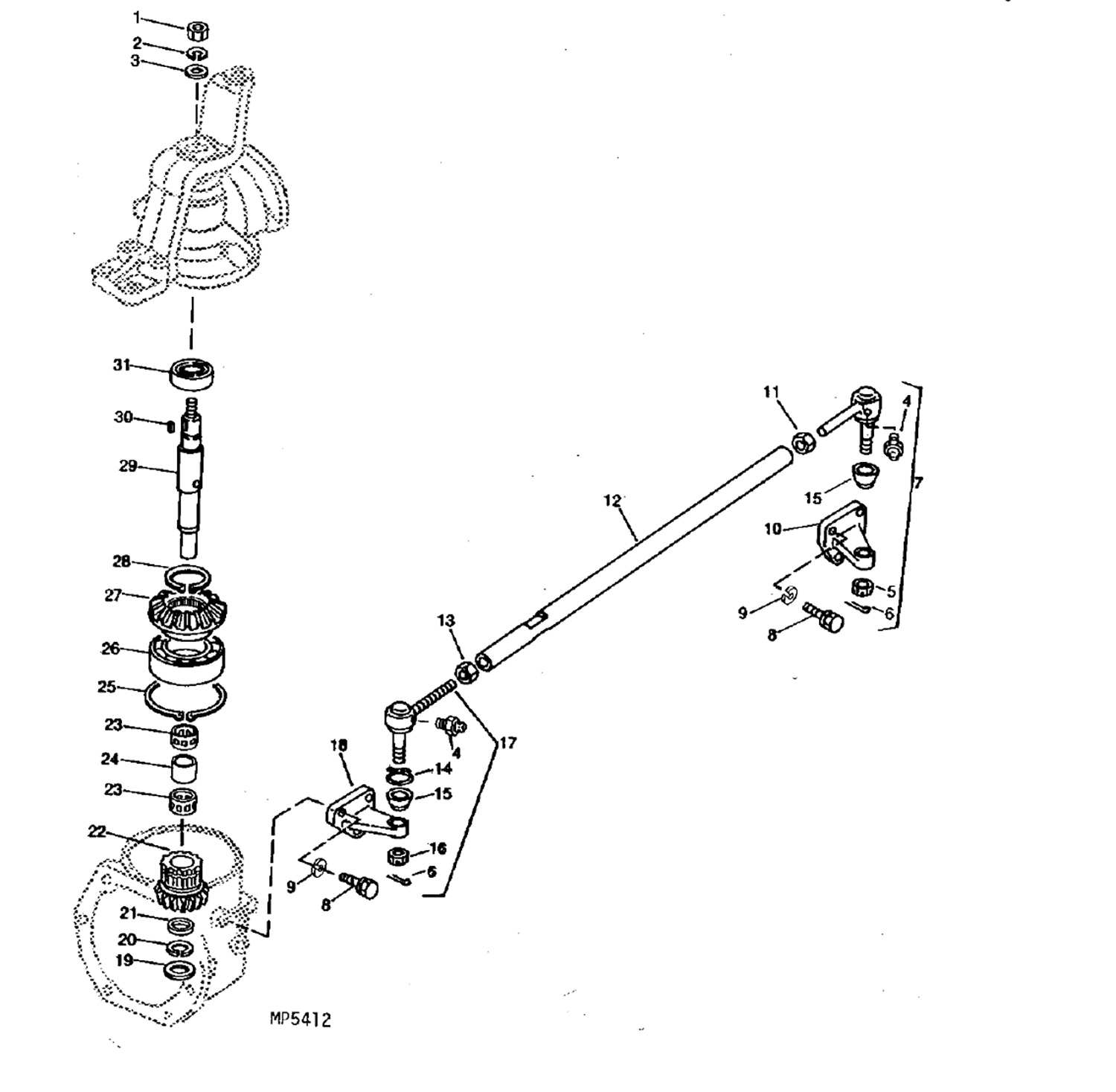 john deere 4210 parts diagram john image wiring front axle parts for john deere compact tractors on john deere 4210 parts diagram