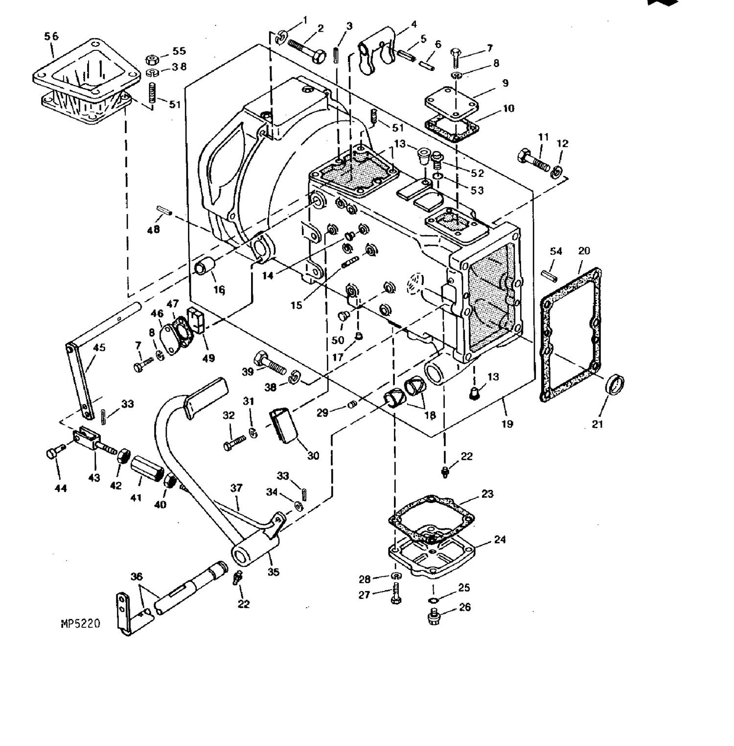 850 clutch housing_1 clutch parts for john deere compact tractors