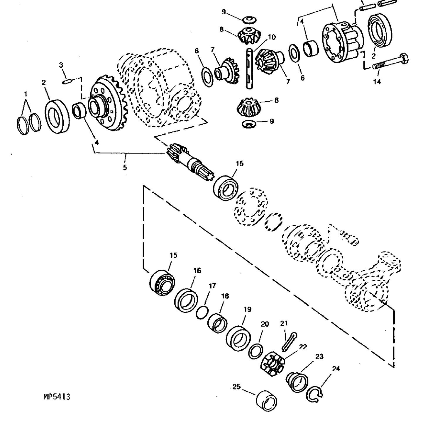 Buy Your Compact Tractor Parts Online Weavers John Deere 950 Wiring Harness Front Axle Seal 4wd