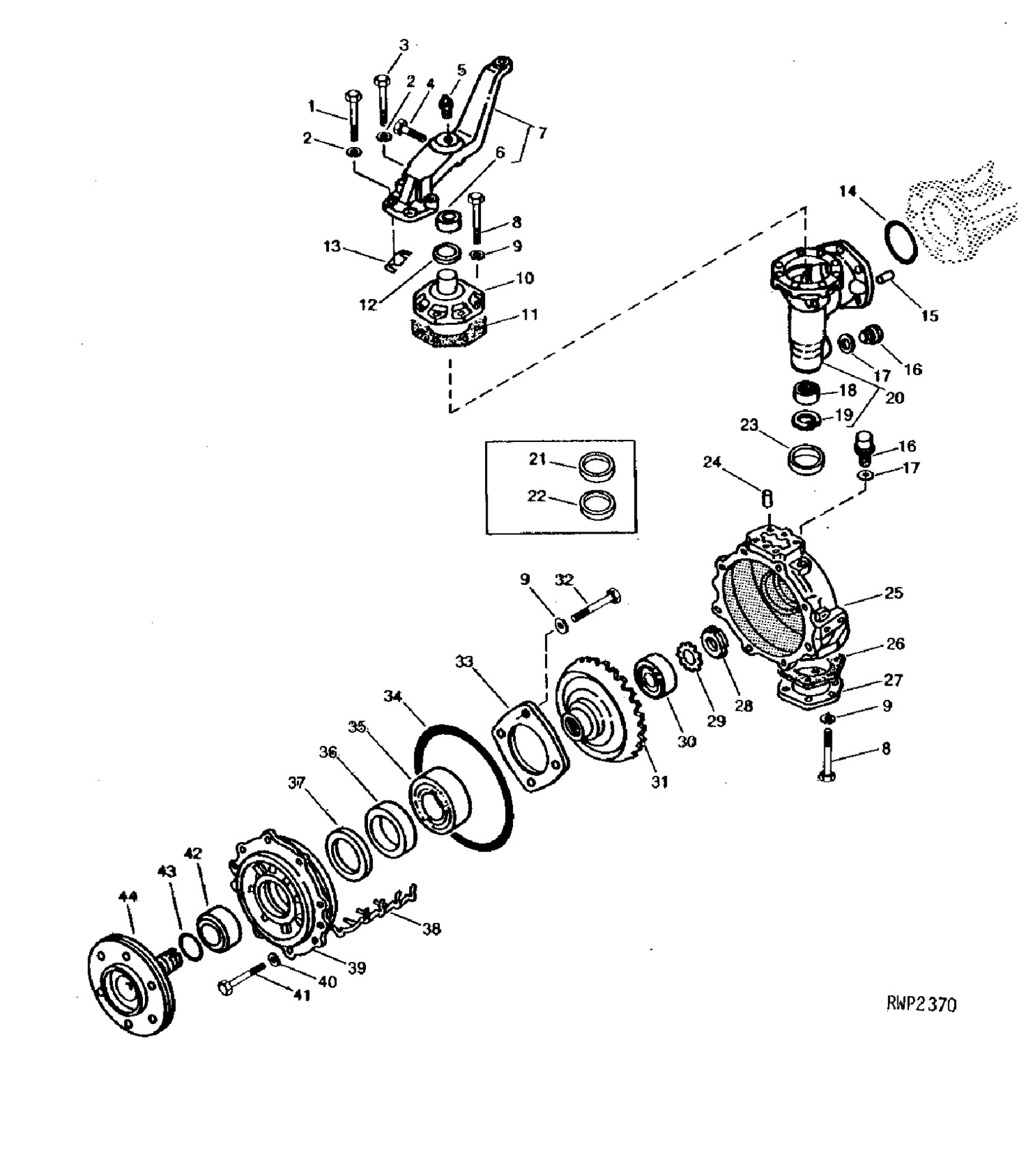 front axle seals bearings for john deere pact tractors John Deere 265 Wiring Diagram front axle bearing 4wd